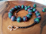 Polymer Clay 'African Flag' Beads